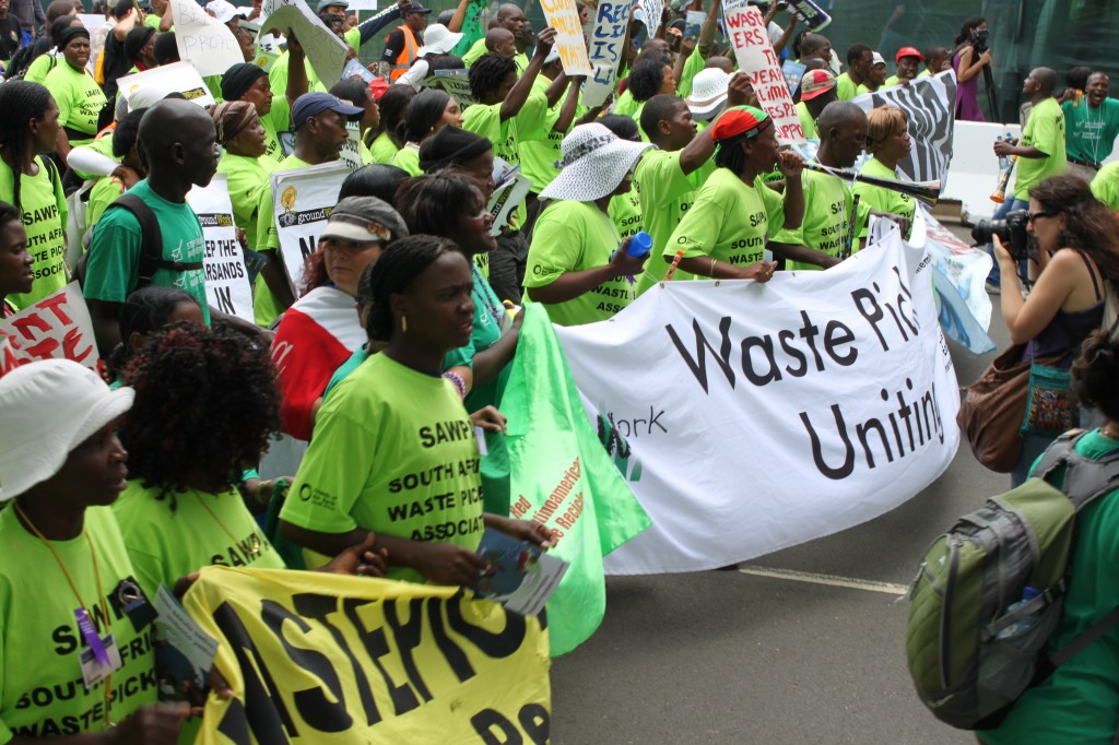 photo:  The Nation Watch  The global wastepickers movement calls for a halt to incineration practices and for the recycling of waste.