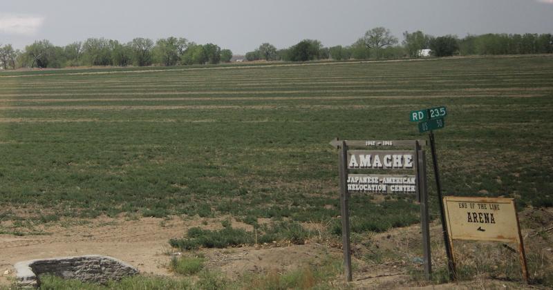 photos: Tiburcia Vidal/The Nation Report  Entrance into the Amache Concentration Camp in Granada, Colorado