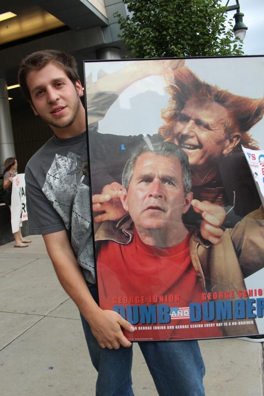 denver university bush protest