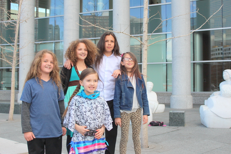 Members of the youth environmental group Earth Guardians pose outside of the Ralph Carr Building where the Colorado Court of Appeals heard their case challenging a District Court's decision that sided with the COGCC in dismissing a lack of health and safety complaint brought by the youth. (photo: The Nation Report)
